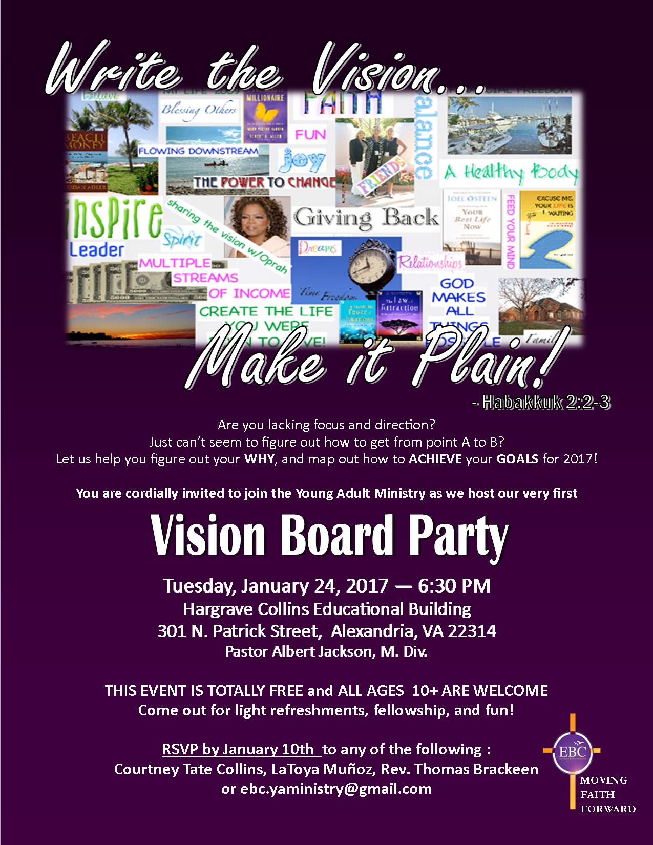 Not Your Average VISION BOARD PARTY! - 6 JAN 2019 |Events Vision Board