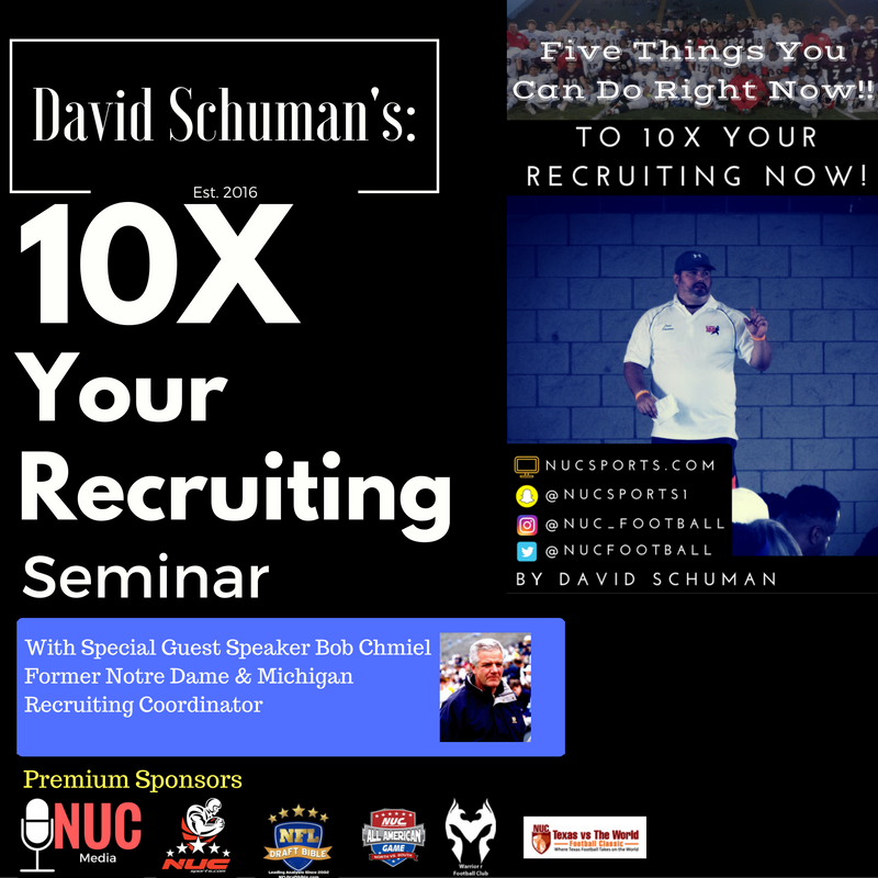 10x your football recruiting now with david schuman