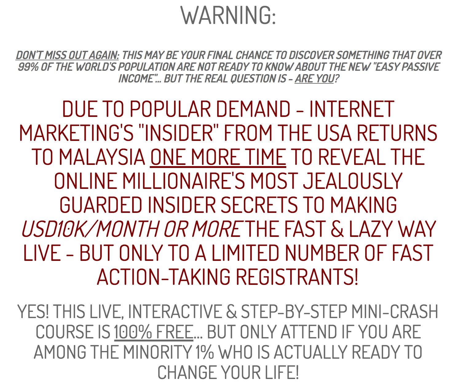 internet millionaire secrets 2017 encore