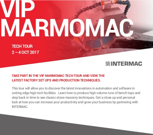 Brochure for Marmomac VIP Tech Tour