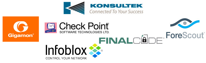 Konsultek, Check Point, ForeScout, Gigamon, Infoblox, FinalCode