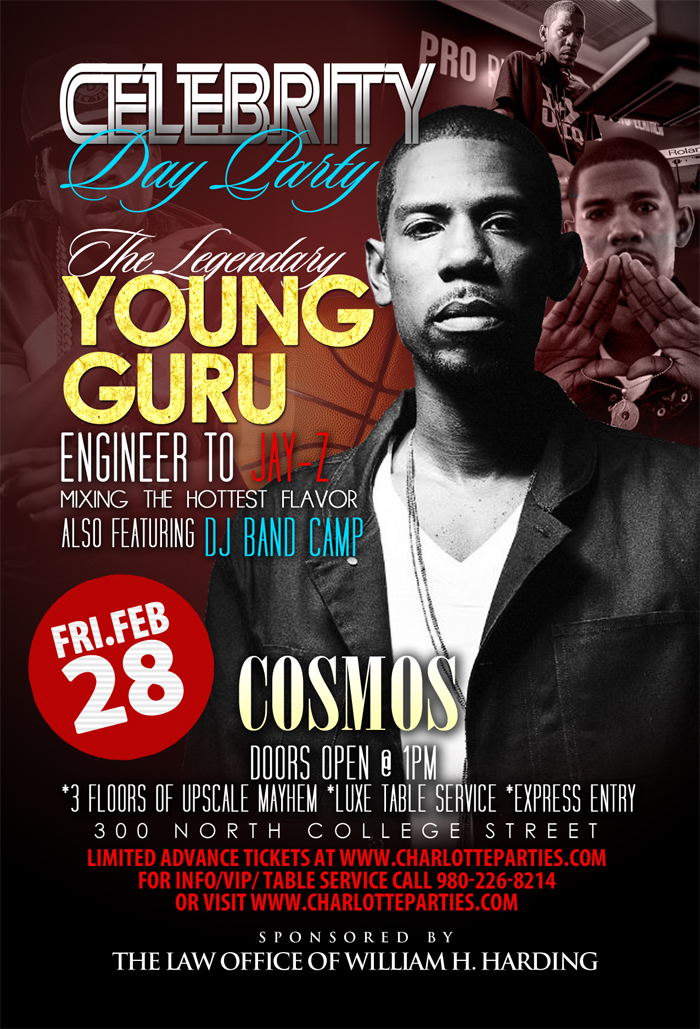 Friday Day Party @ Cosmos with Young Guru Jay Zs DJ