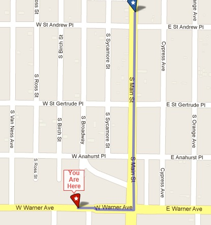 Map to Casa Del Rey afterparty 6-9-12
