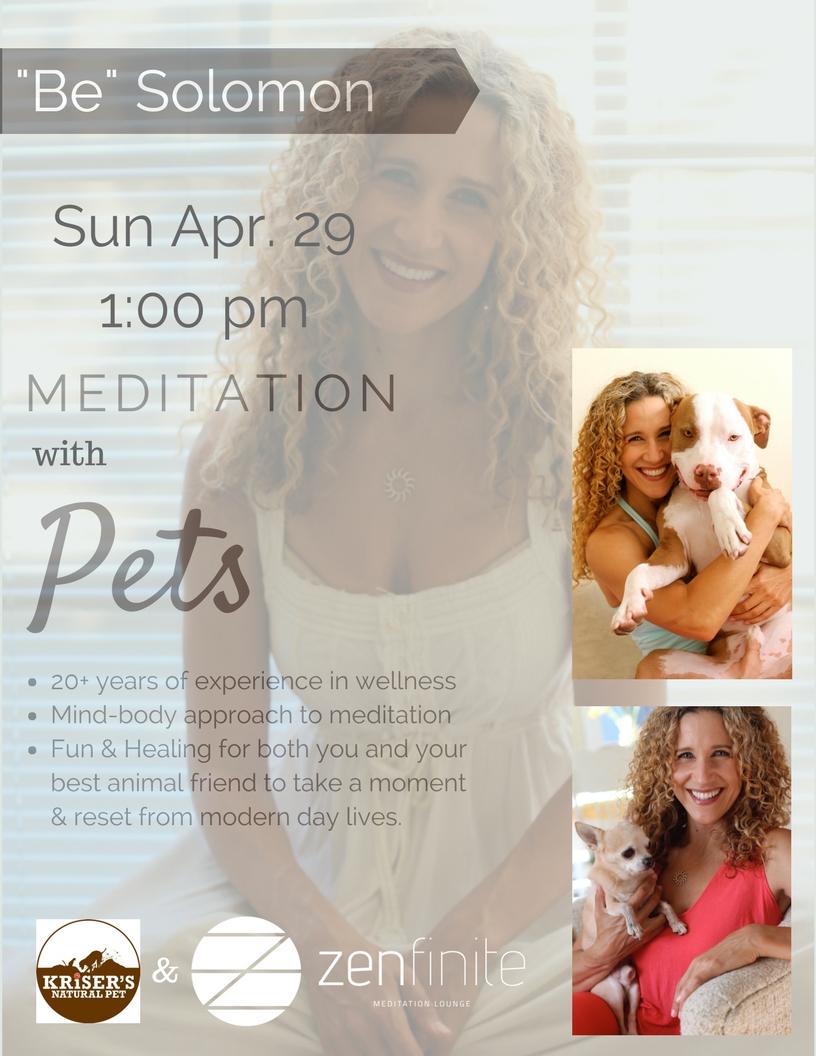 Meditation with Pets - Zenfinite Meditation Lounge