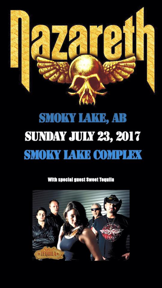 Nazareth Live in Smoky Lake Announcement