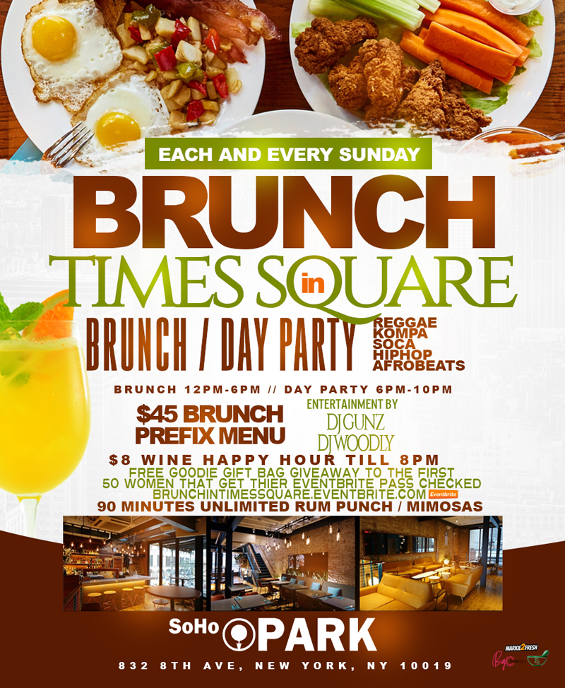 KOMPA/GOUYAD BRUNCH/DAY PARTY IN TIMES SQUARE ( LADIES FREE