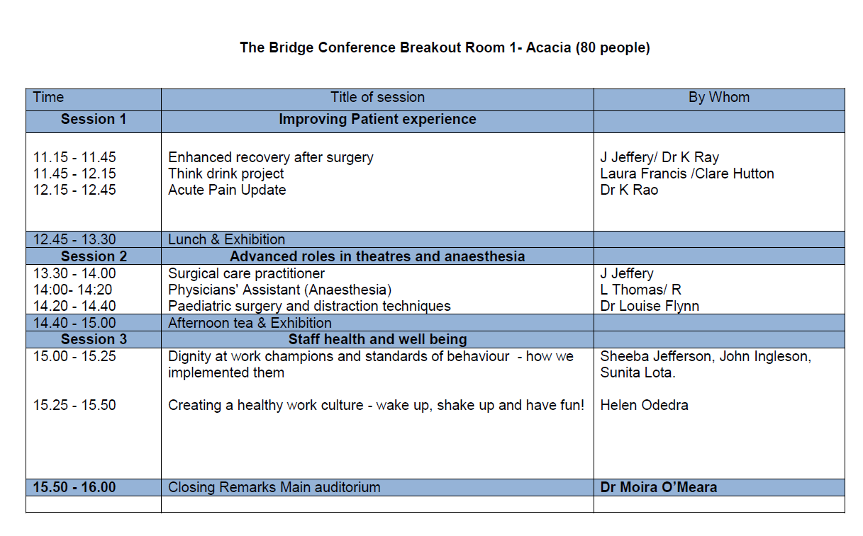 The Bridge Conference Breakout Room 1 - Acacia
