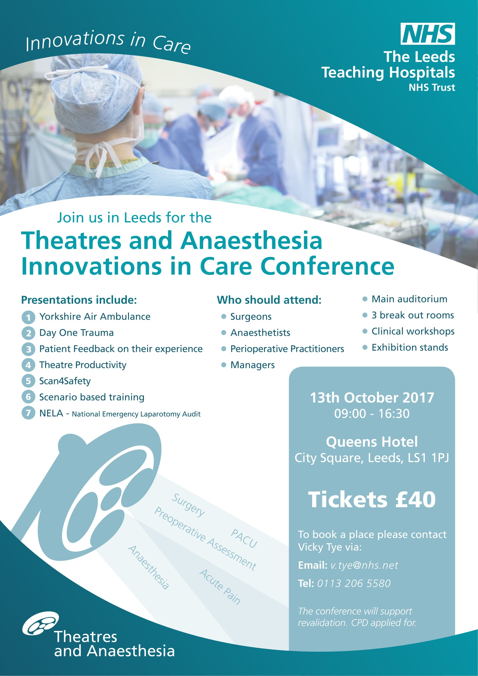 Theatres And Anaesthesia Innovations in Care Conference