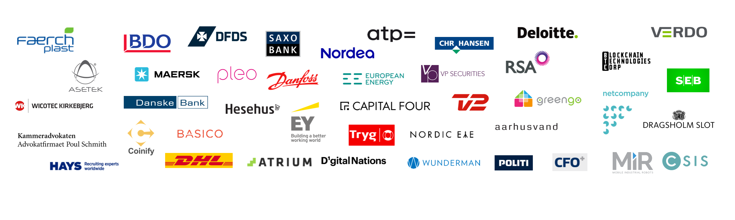 Several of the regions largest companies including Danske Bank, Netcompany and Deloitte.