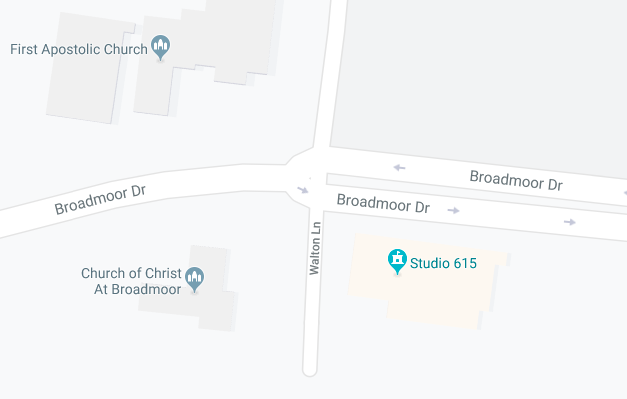 Map of parking options for Studio 615