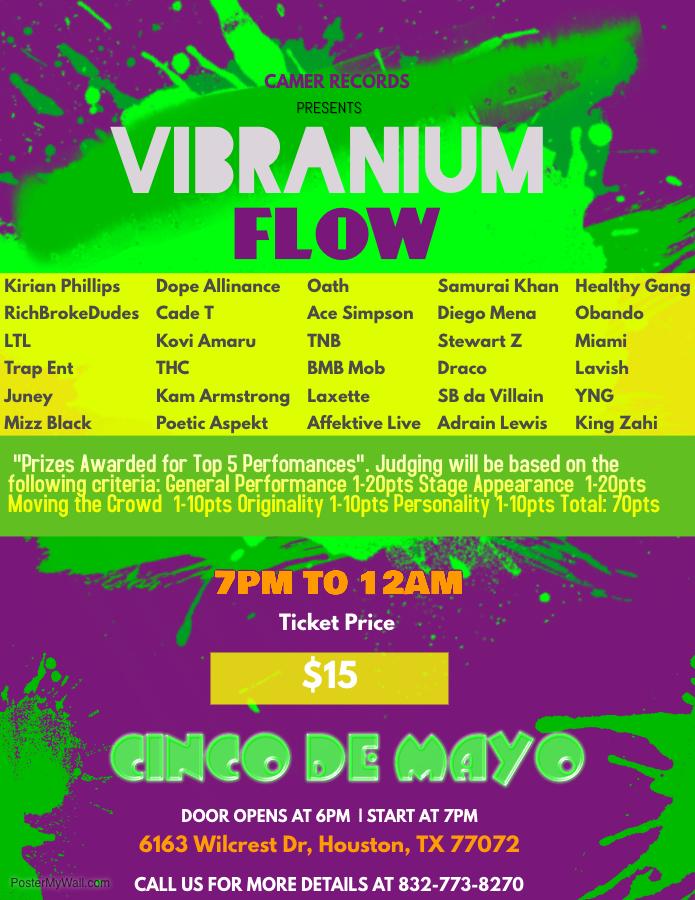 Camer Records Vibranium Show Concert