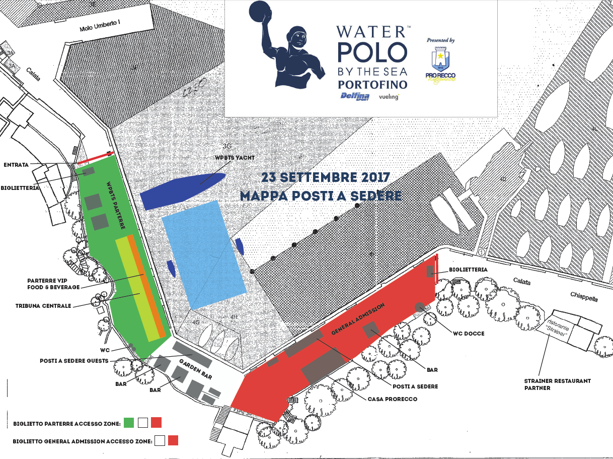 Water Polo by the Sea Portofino Ticket Map