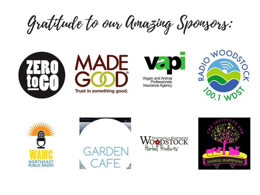 Picture showing logos of all Hudson Valley Vegfest sponsors