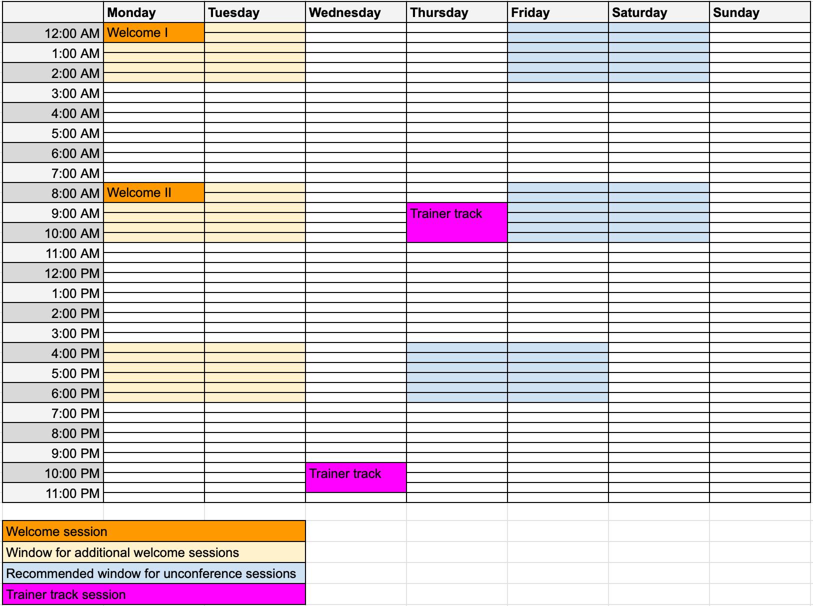 OFU19 schedule