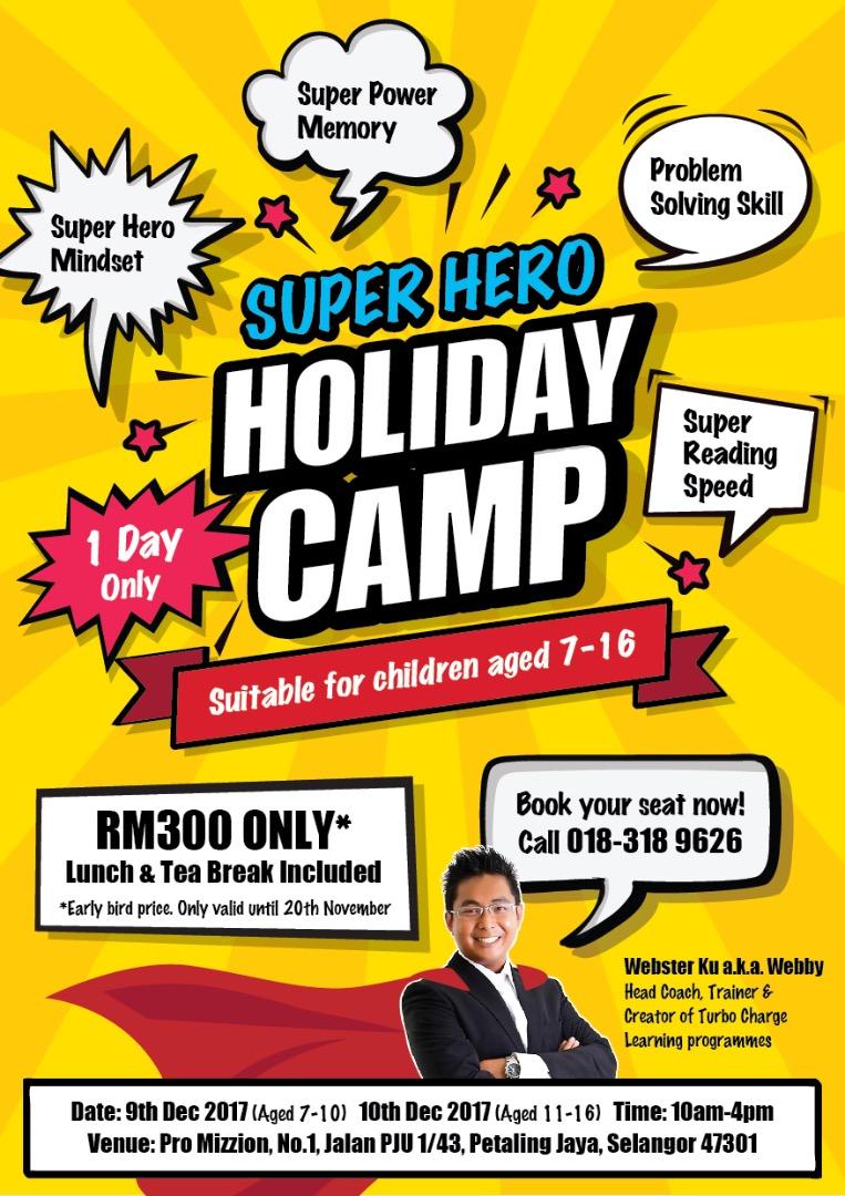 Superhero holiday camp