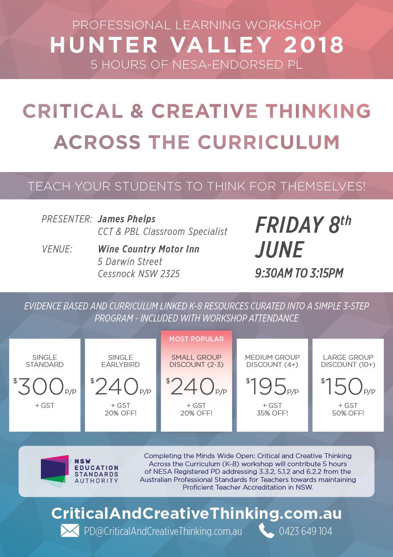 critical and creative thinking curriculum design