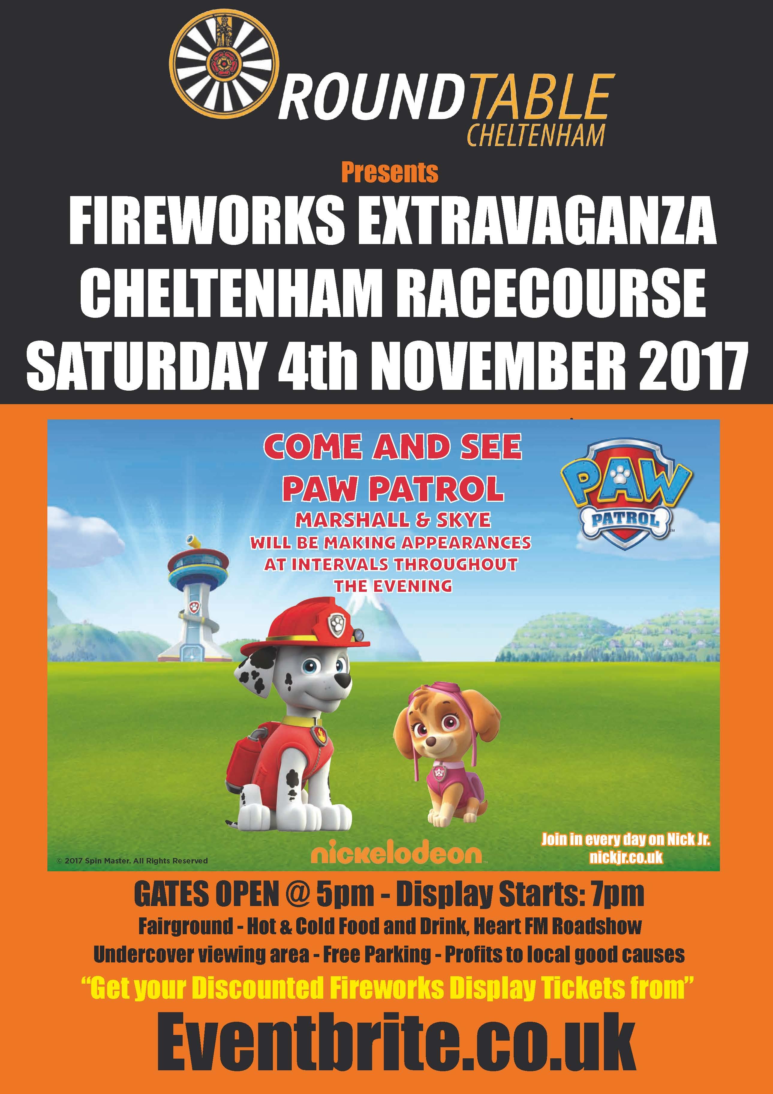 Cheltenham RT Fireworks 2017 Poster