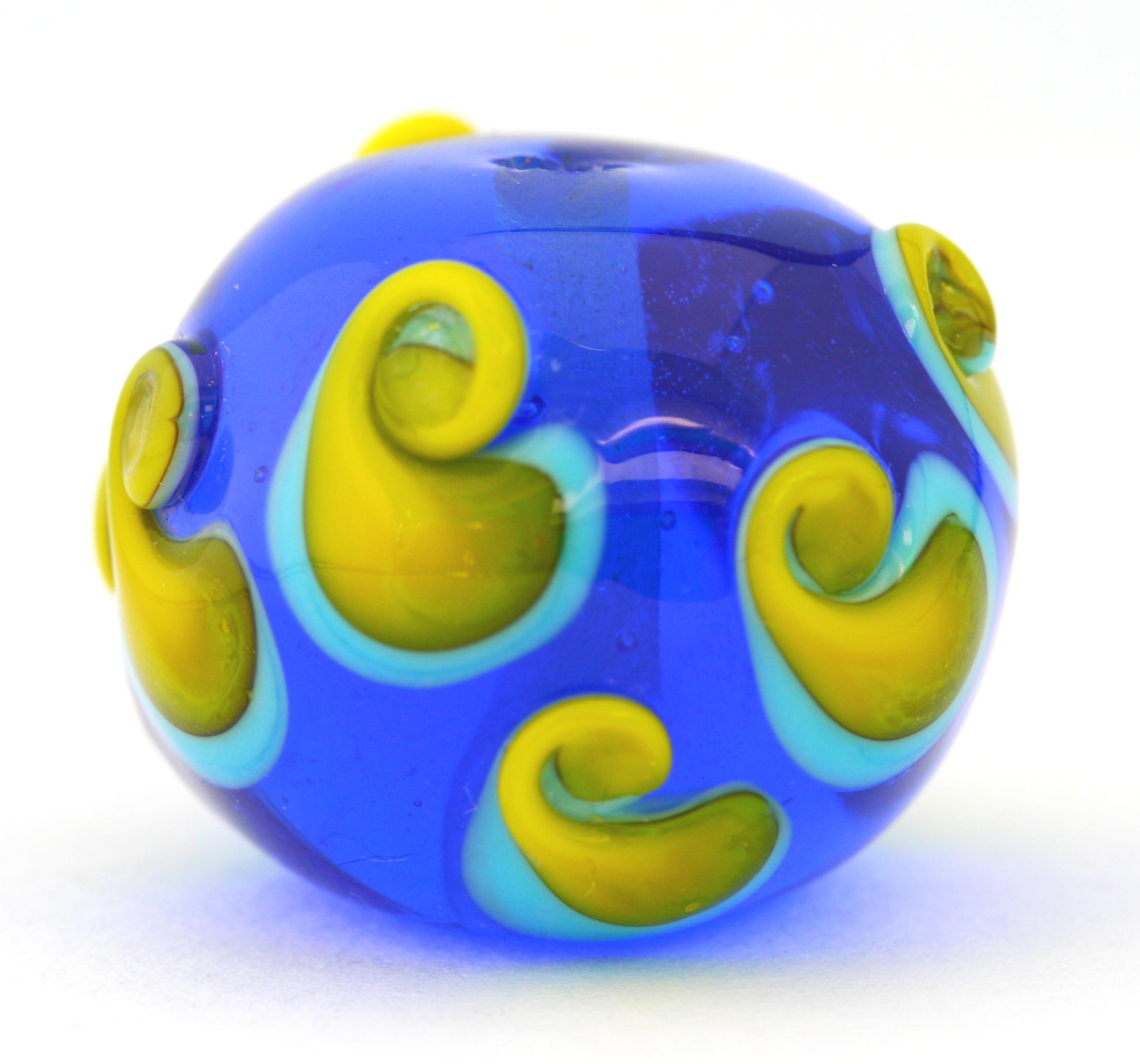 Blue & Yellow Glass Bead