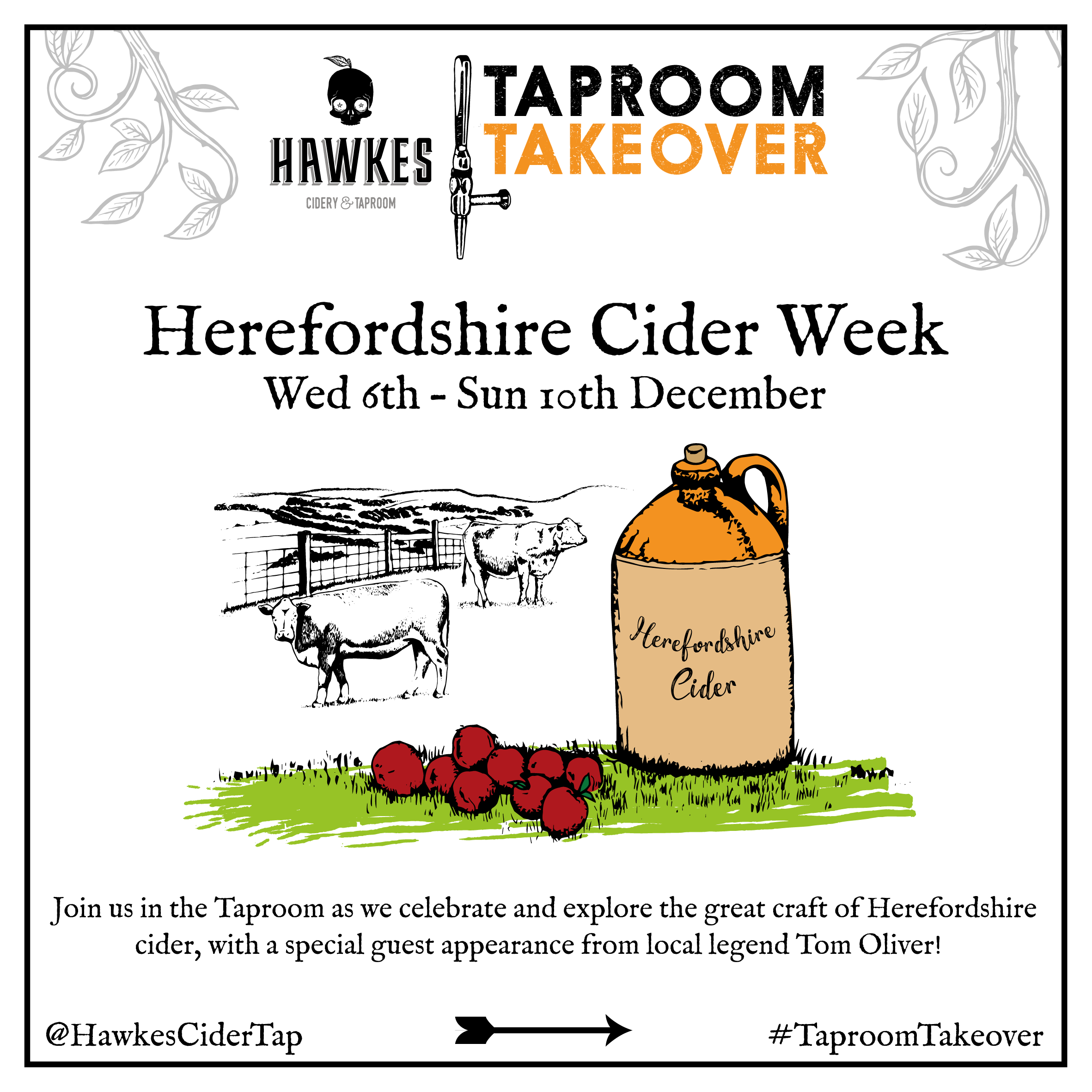 Herefordshire Cider Week ant the Hawkes Cidery & Taproom