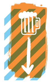 Beer down icon