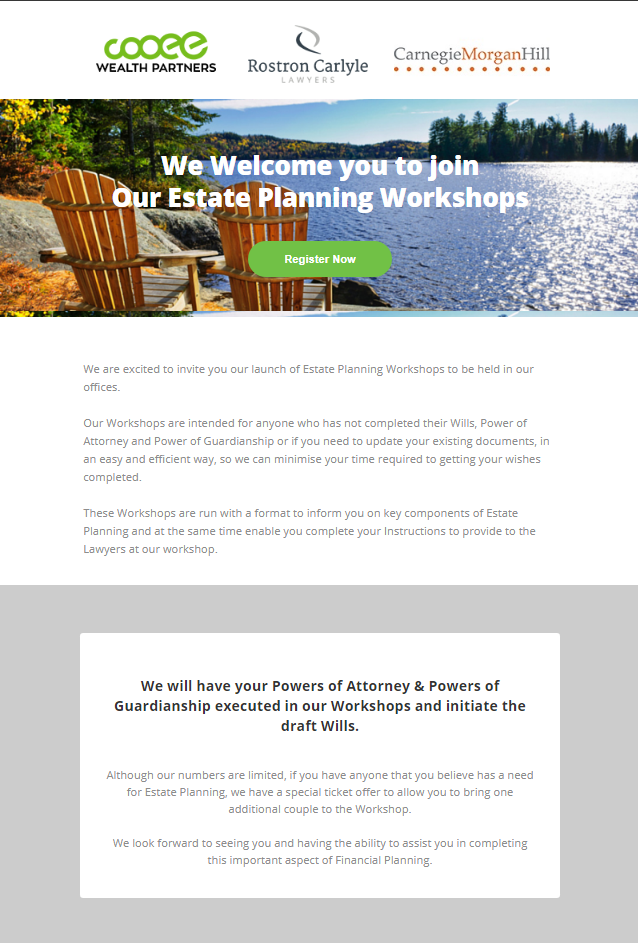 Estate Planning Invite