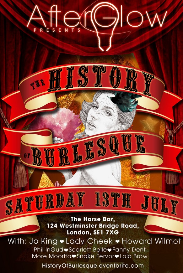 The History of Burlesque flyer
