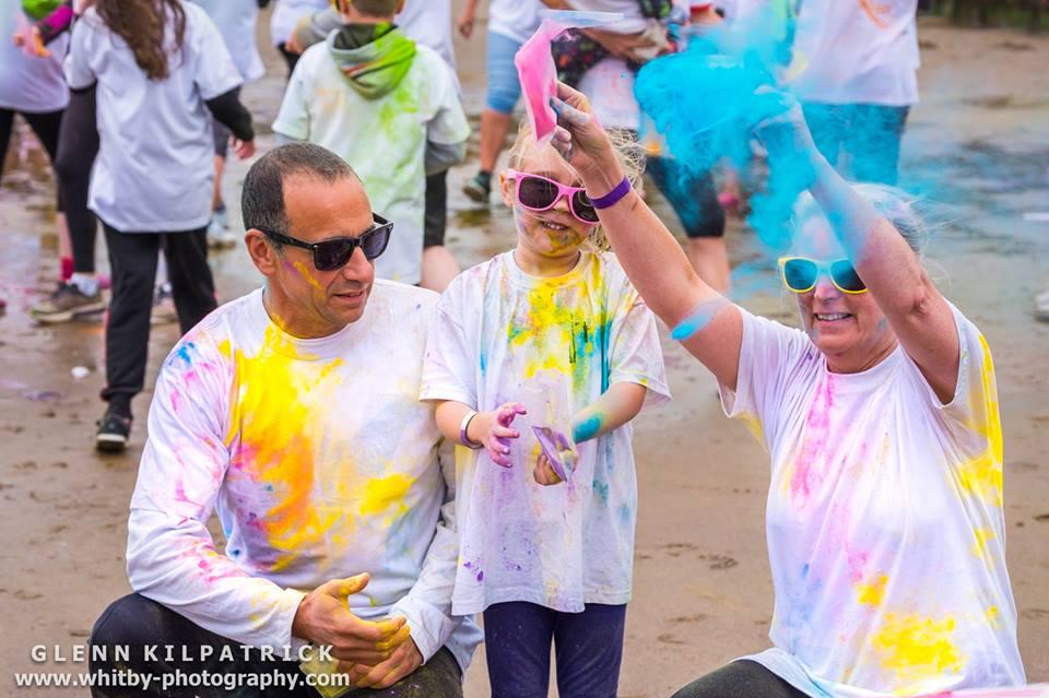 Family fun at the Whitby Rainbow Colour Run