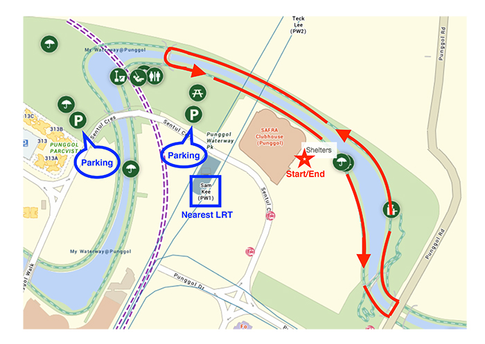 Map of Autism STEP Charity Run 2017