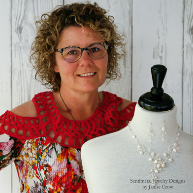 Sentimental Jewelry Designs by Janise Crow, custom bridal necklace titled Kaitlyn