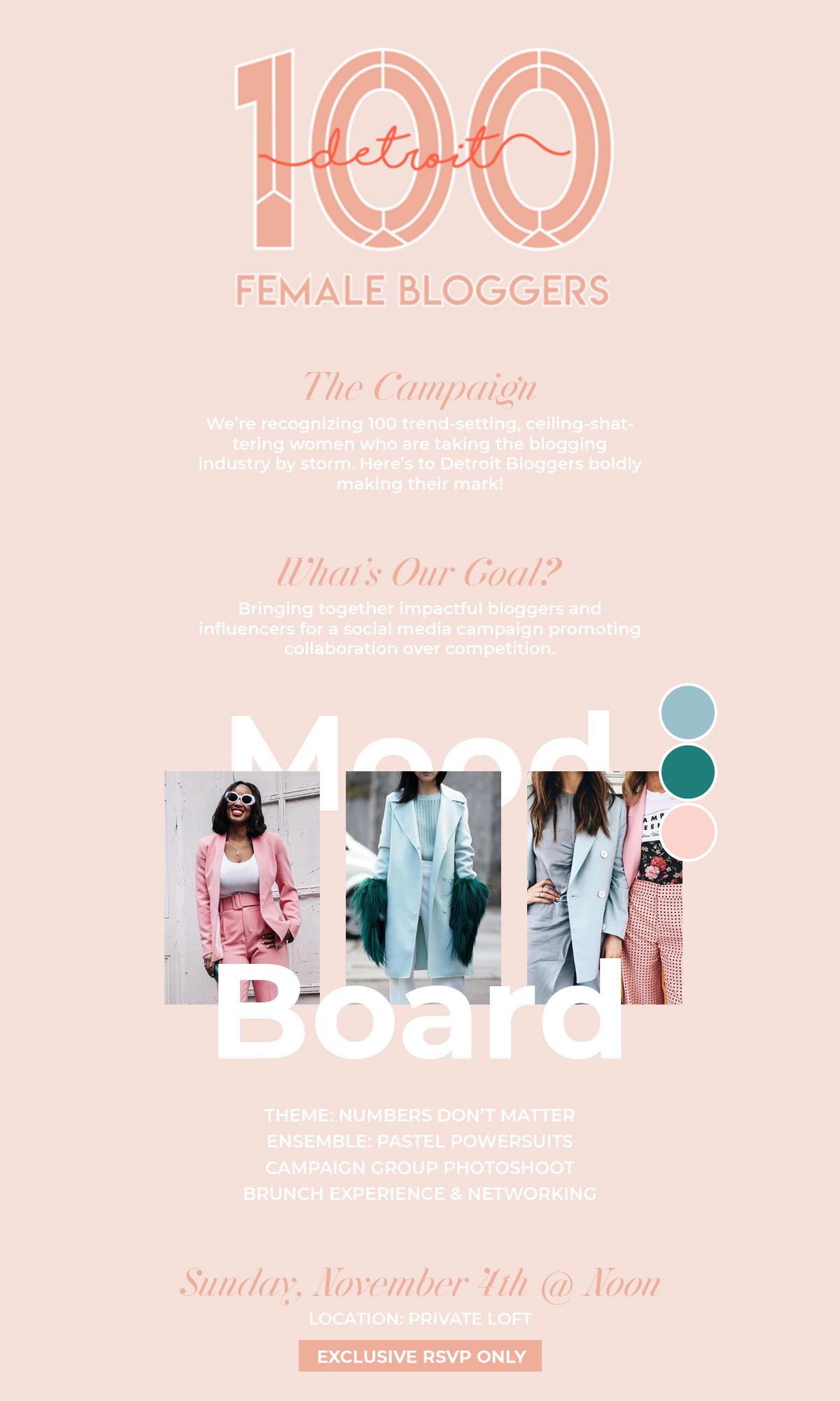 Description of 100 Detroit Female Bloggers