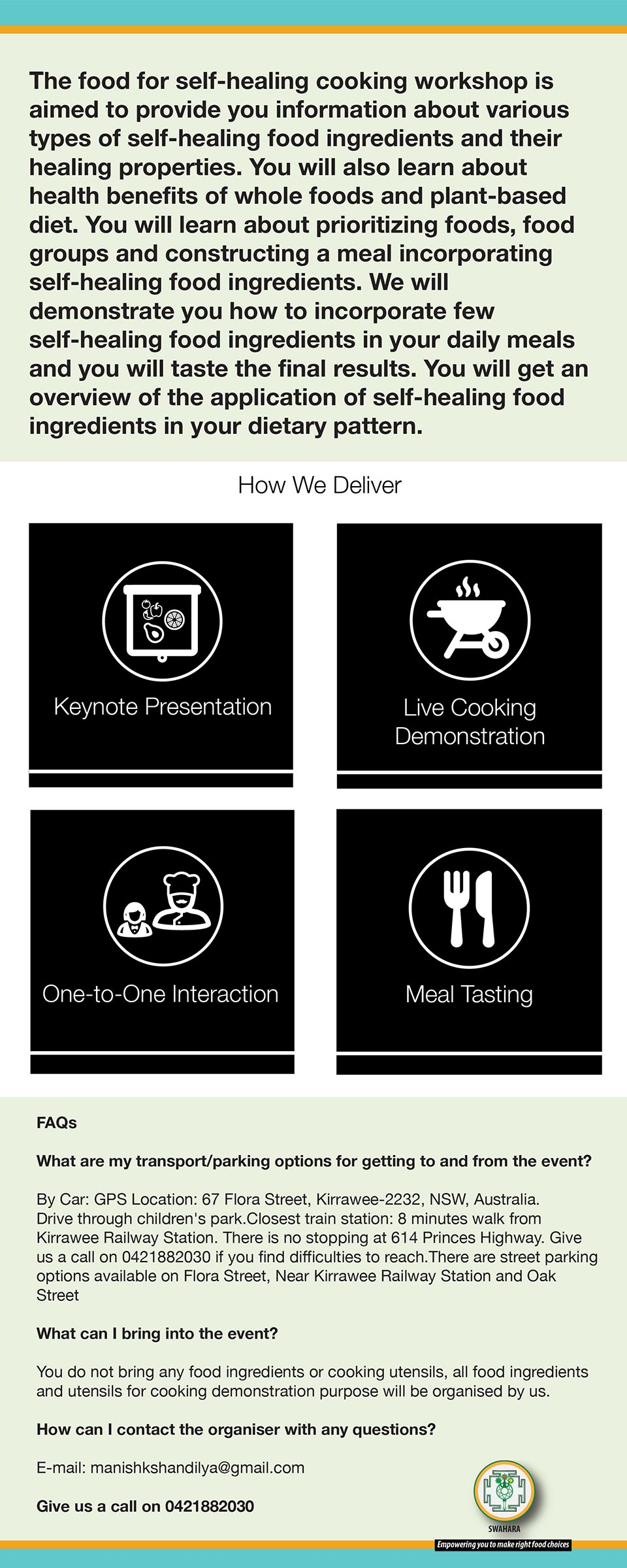food for self healing cooking workshop
