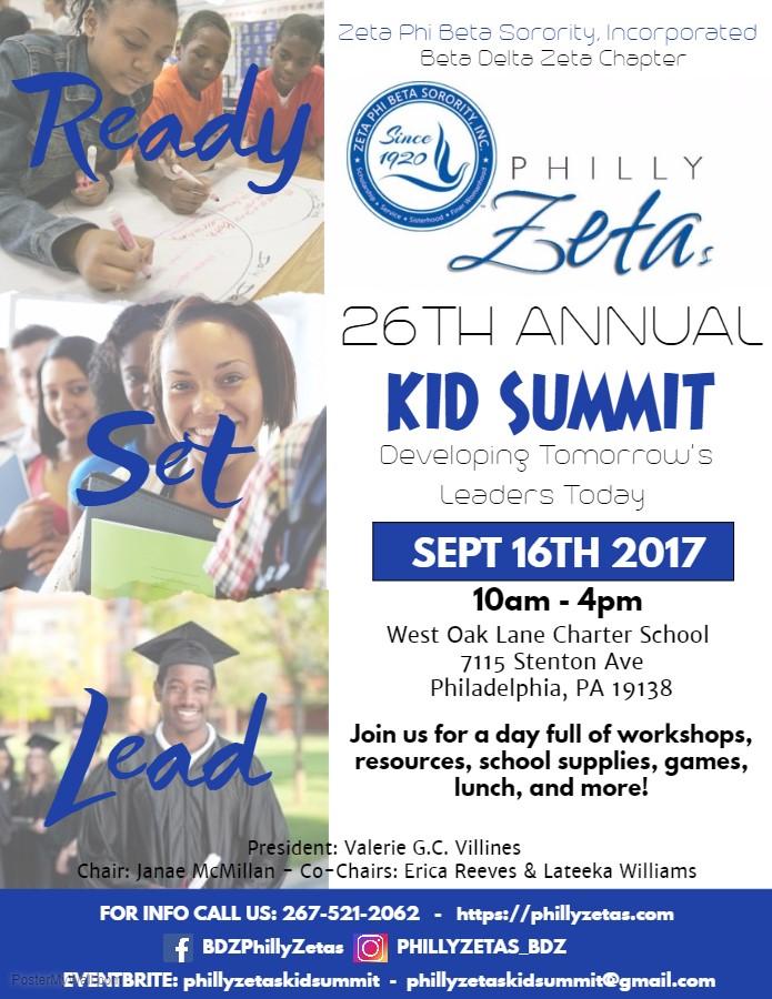 Kid Summit 2017 Flyer