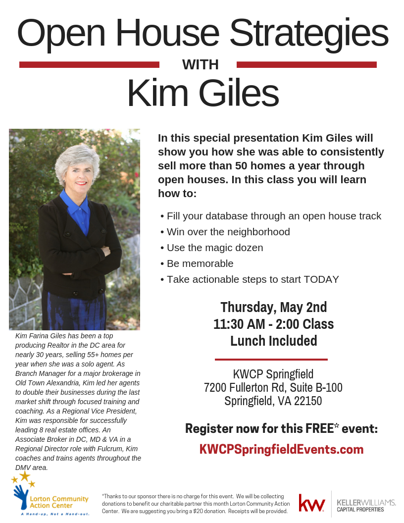 Kim Giles Open House Success Strategies