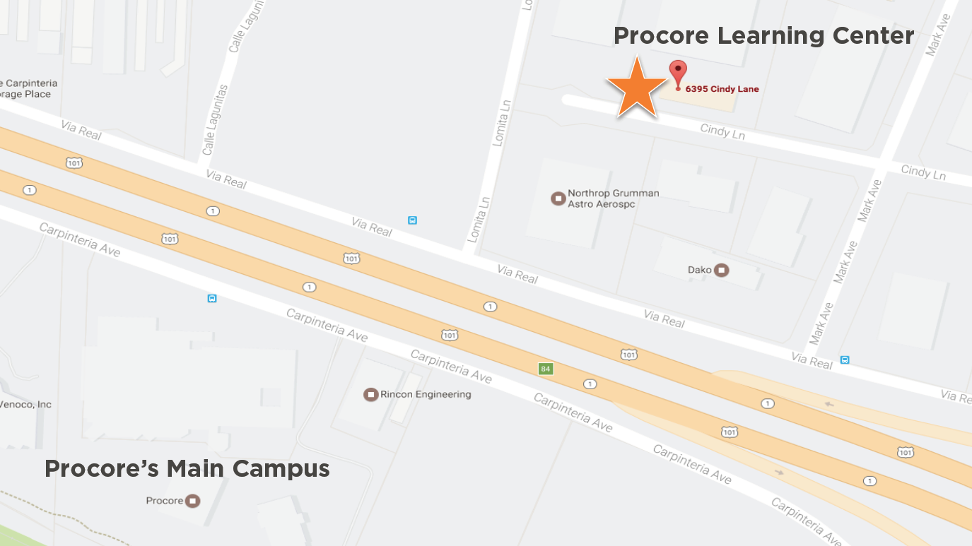 Procore Learning Center Directions