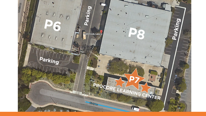 Procore Learning Center Map
