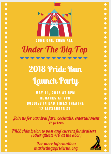 Pride and Remembrance Run 2018 Launch Party