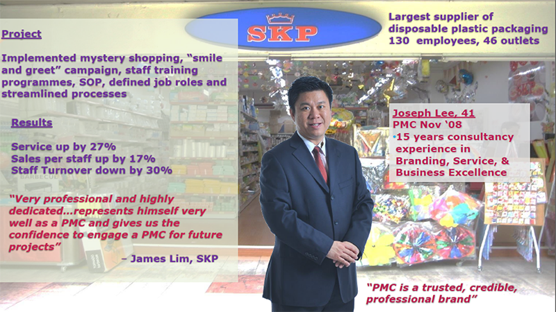 Mr. Joseph Lee helped SKP improve their service quality