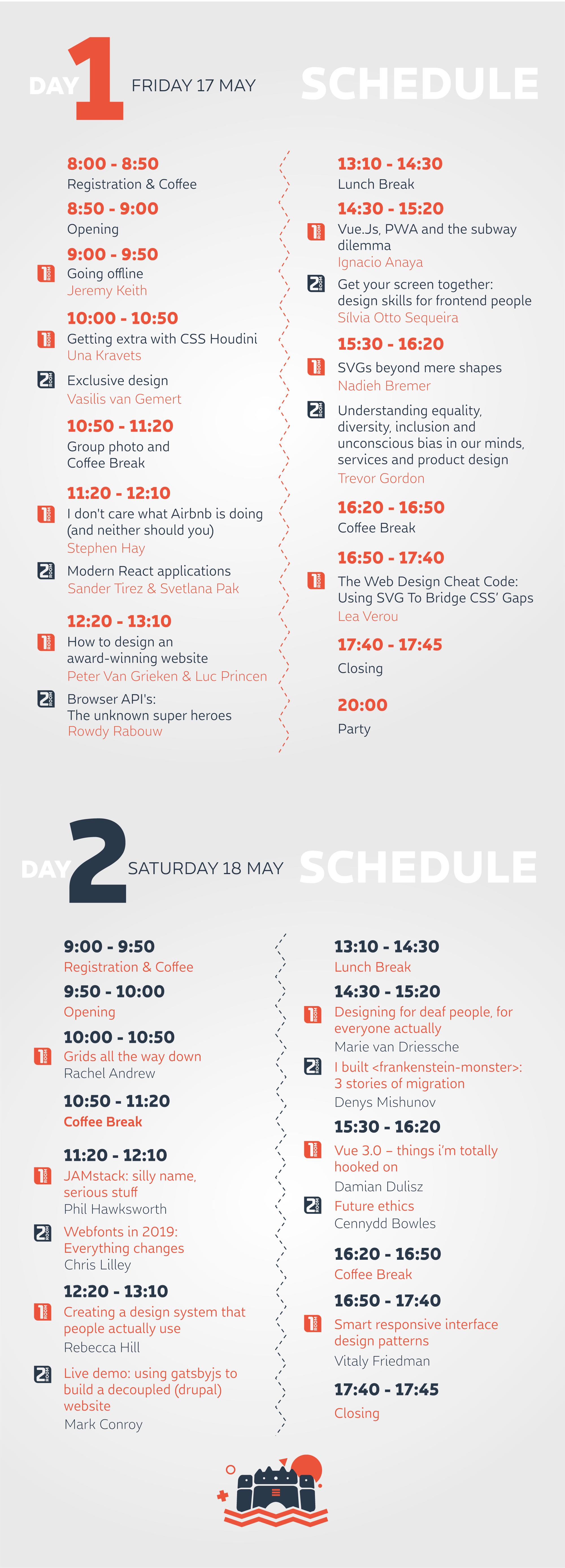 Frontend Re-United Niš Schedule