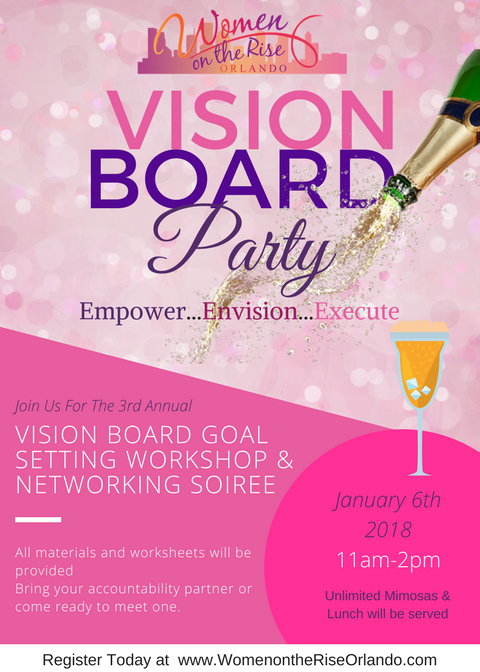 3rd Annual Vision Board Party — Ashley Empowers |Events Vision Board