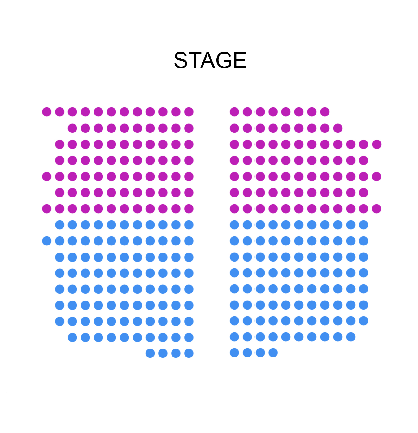 Glenn Gould Studio Seating Map