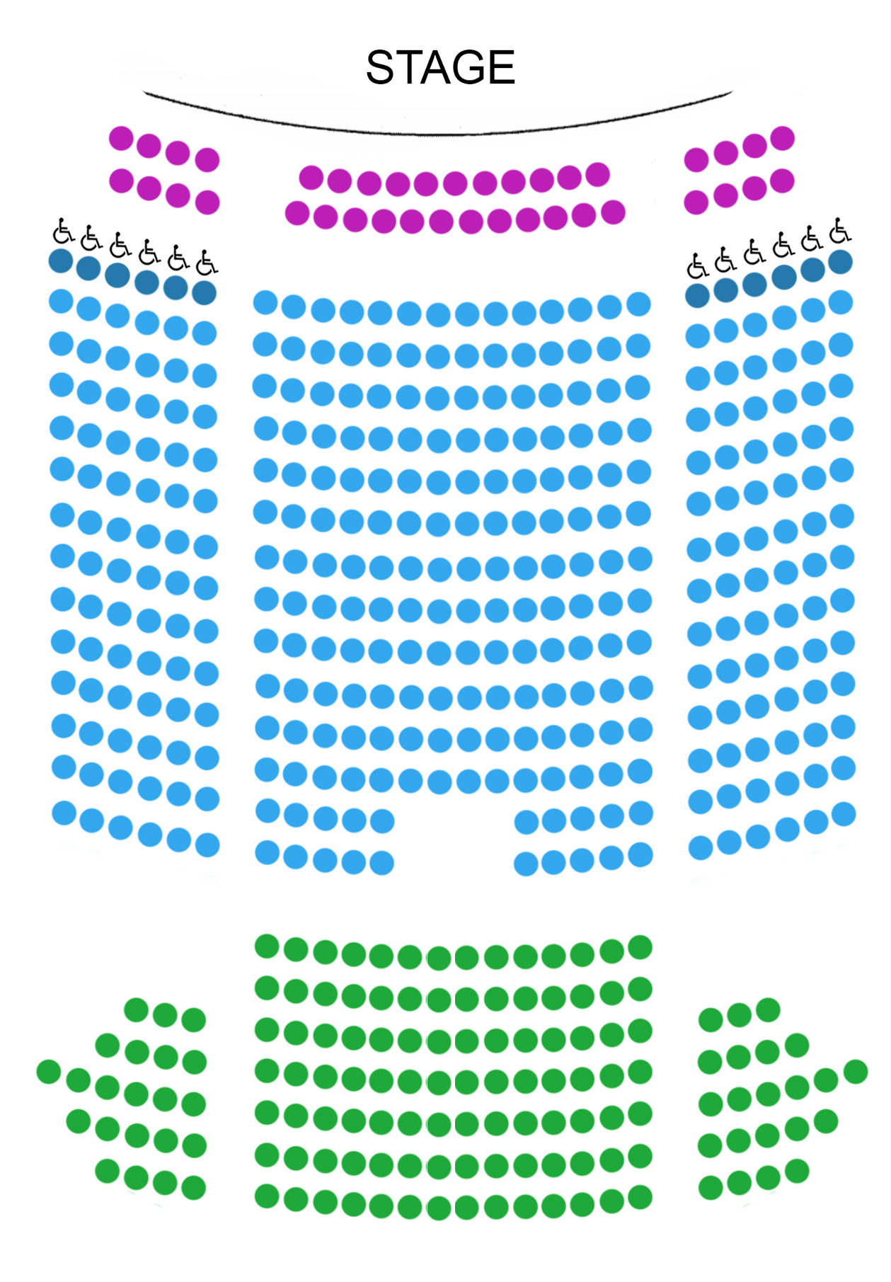 Montreal seating map