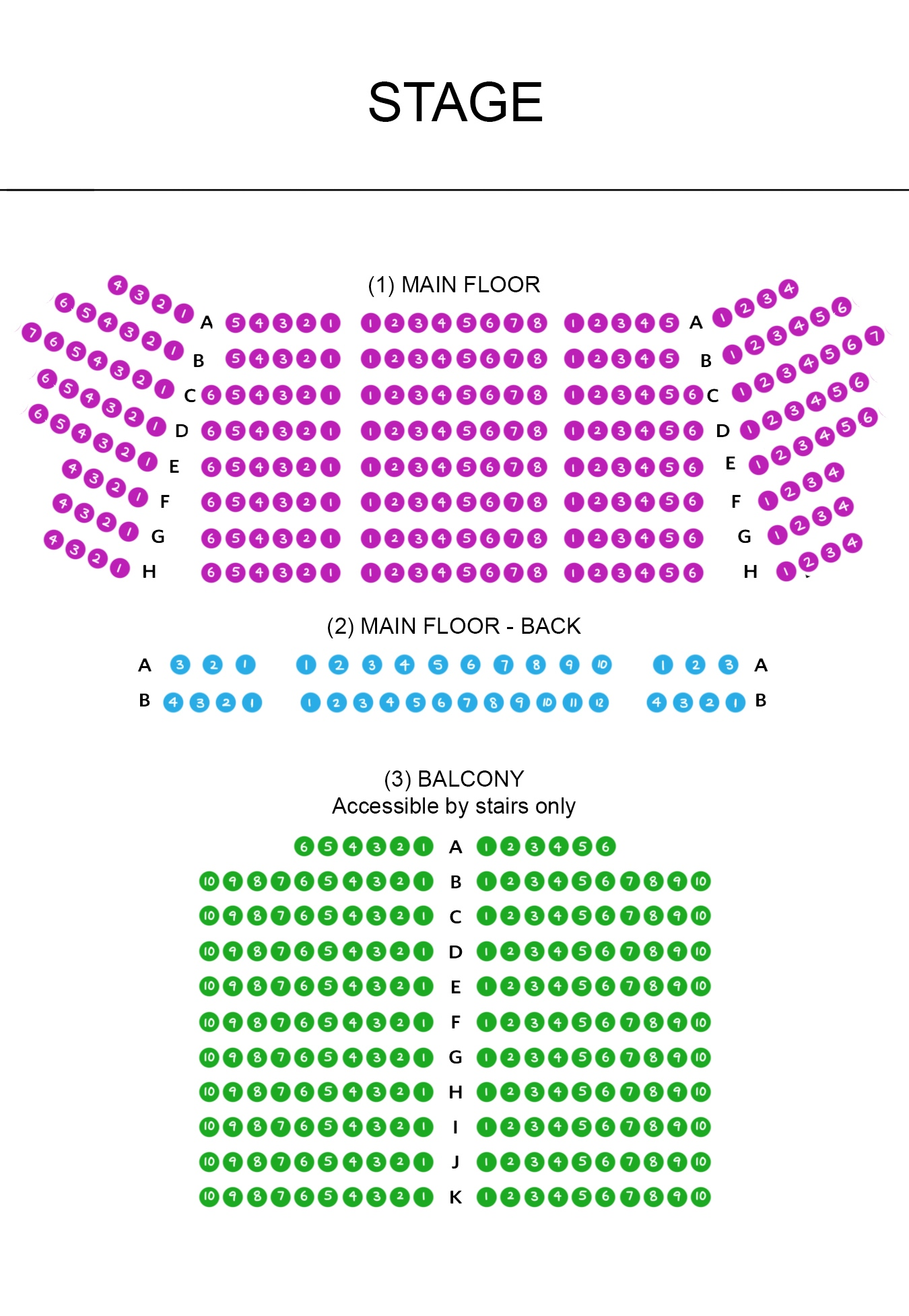 Chicago seating map