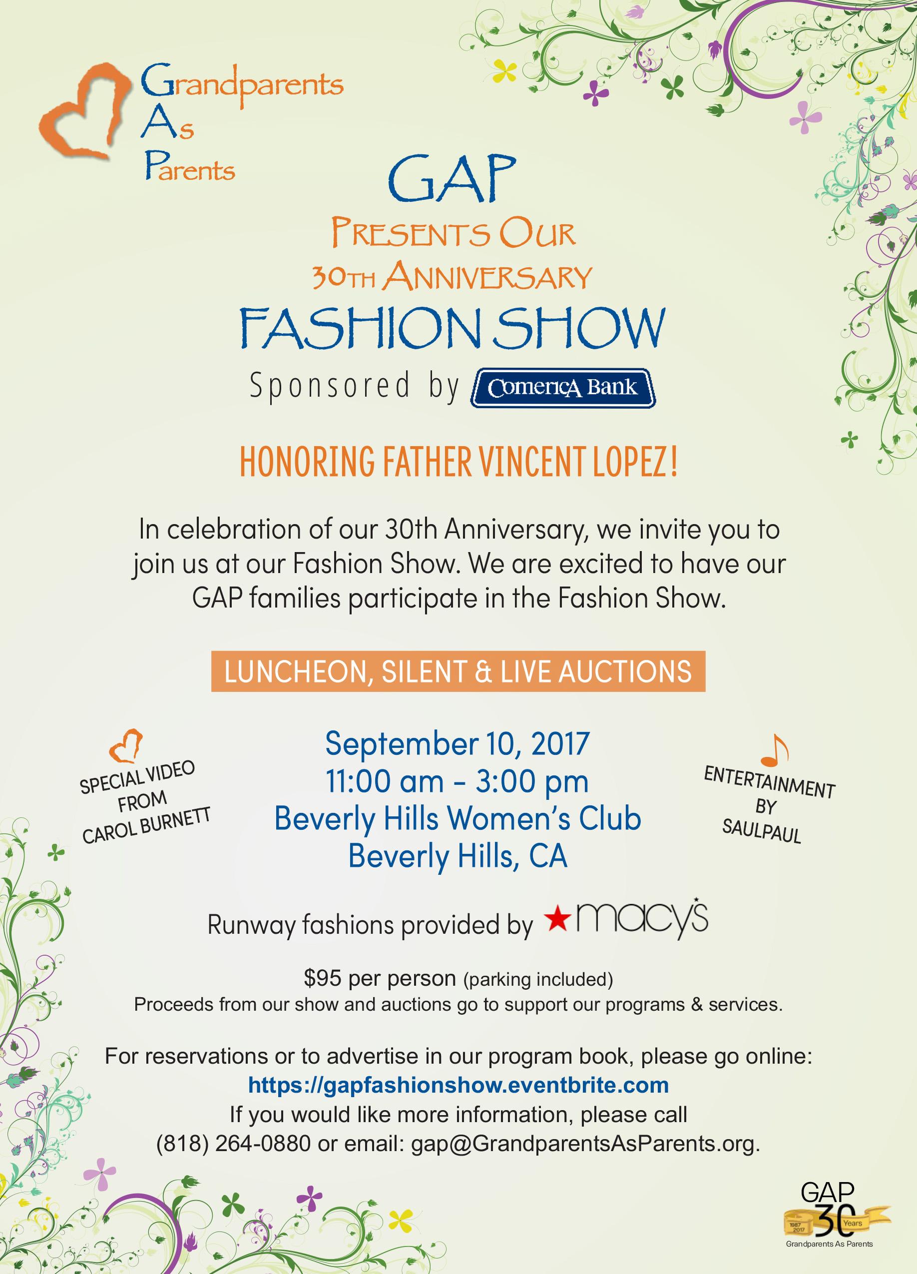 GAP Fashion Show Flyer