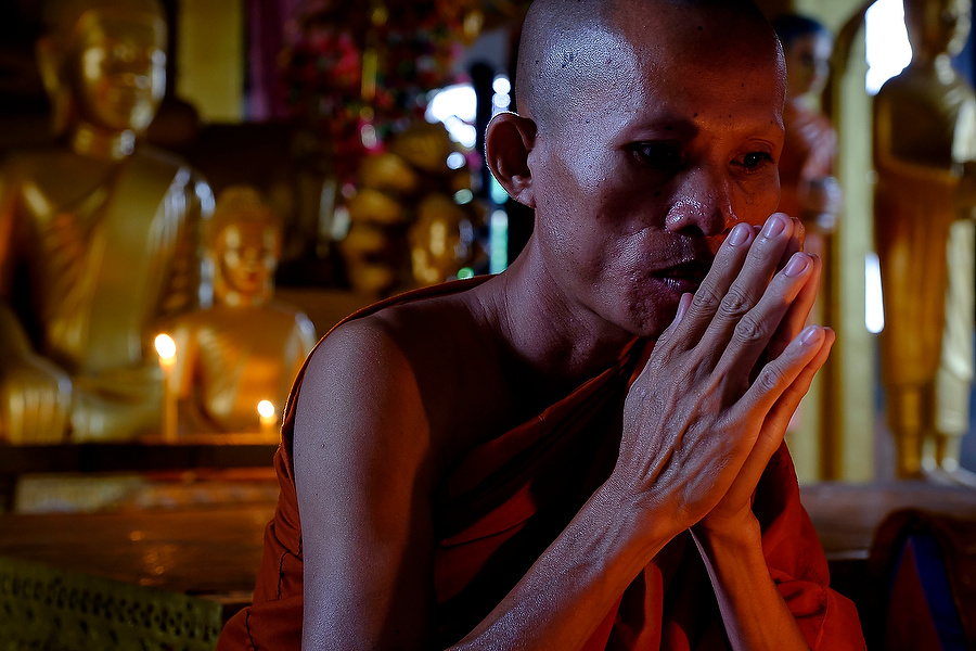 Buddist Monk, Angkor Wat temple, Cambodia