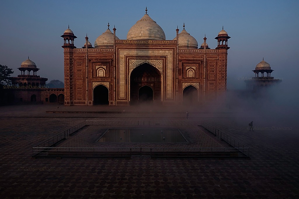 The Mosque at Taj Mahal Mausoleum, Agra, India