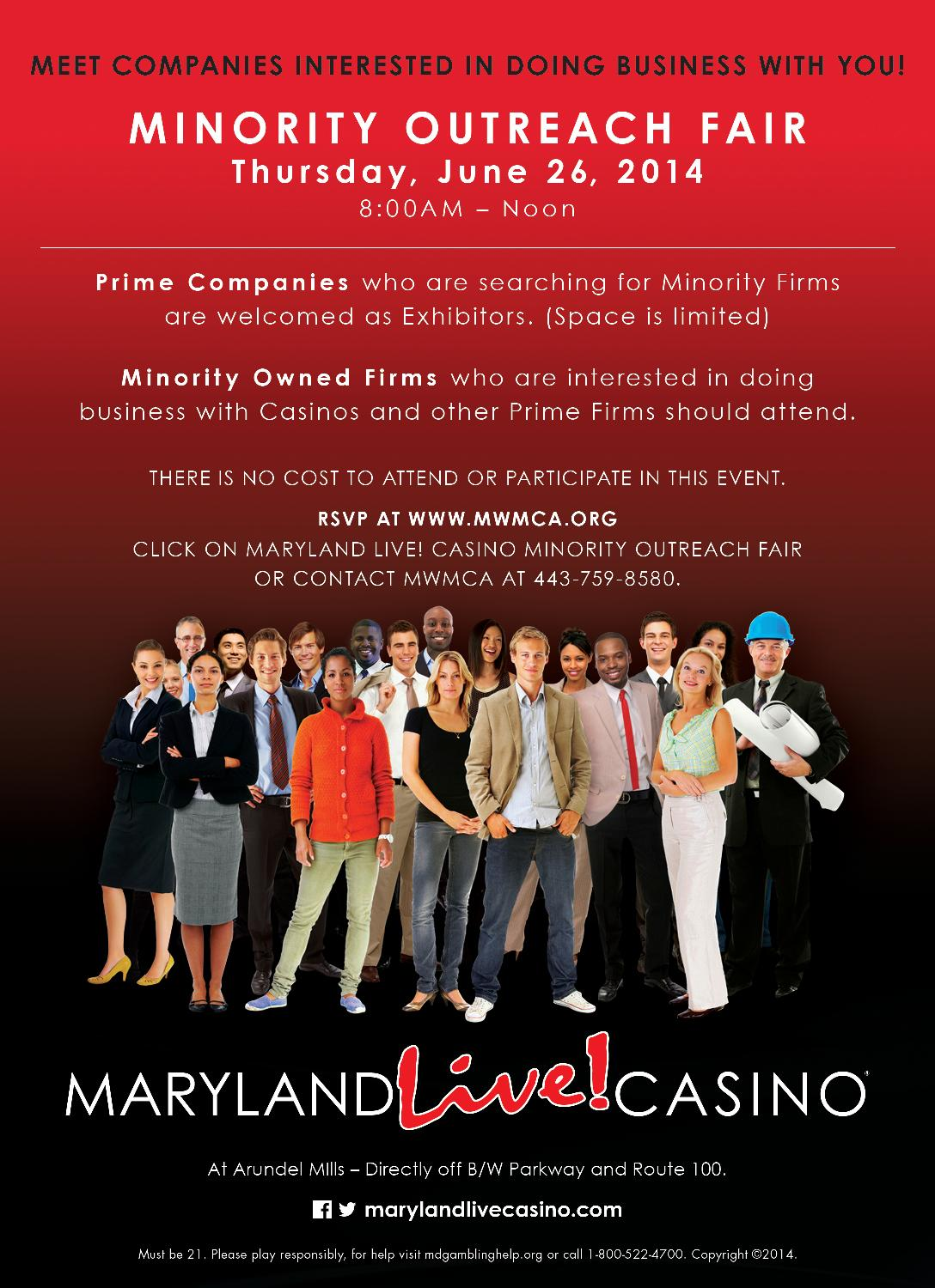 Maryland Live Casino Minority Outreach Fair Attendee