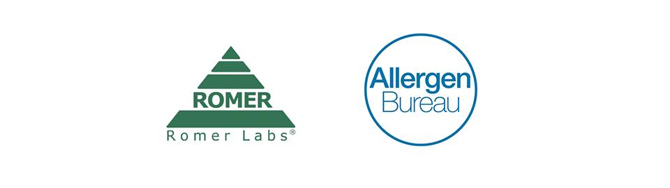 Romer Labs & Allergen Bureau Banner Logo
