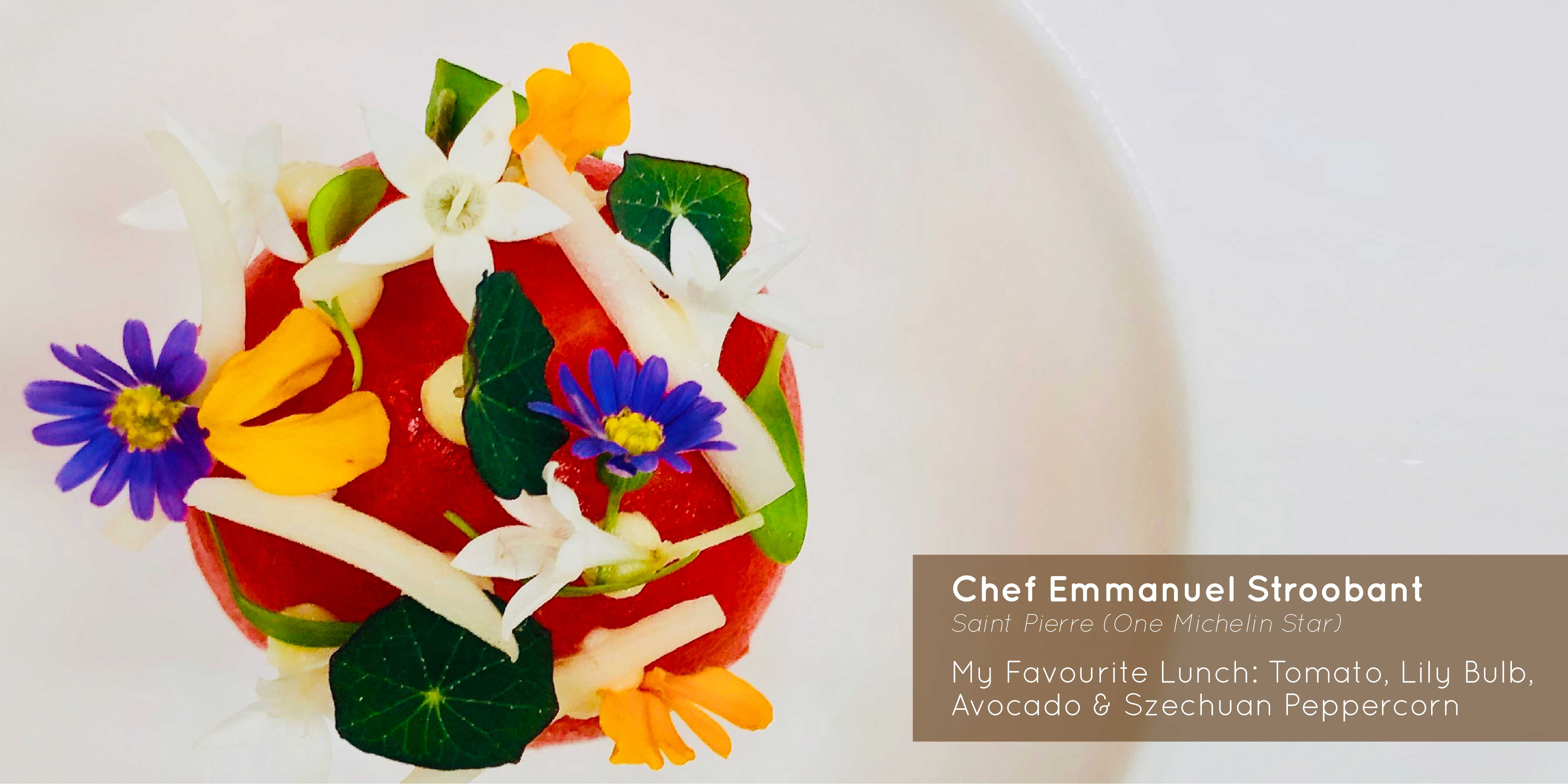 Sprout - Chef Emmanuel Stroobant - My Favourite Lunch