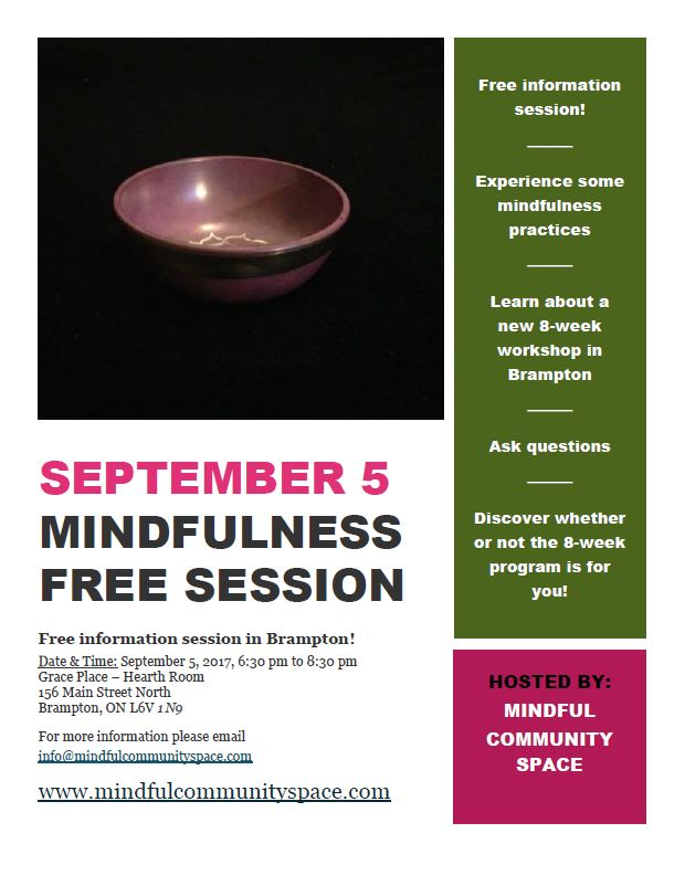 Mindfulness Free Session Poster