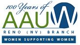 AAUW Reno 100 Years logo